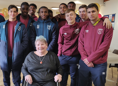 Young Hammers bring joy to St Clare Hospice