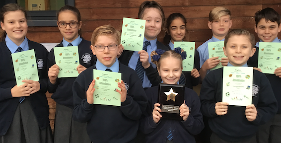 Pupils shine with 100% attendance records