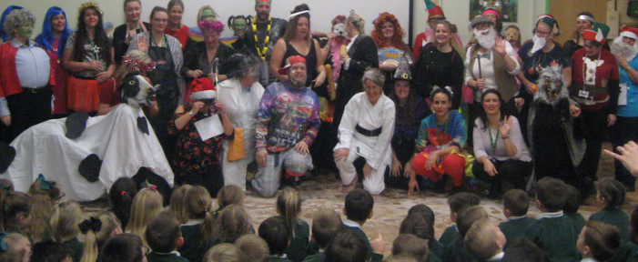 Pear Tree Mead staff perform hilarious panto!