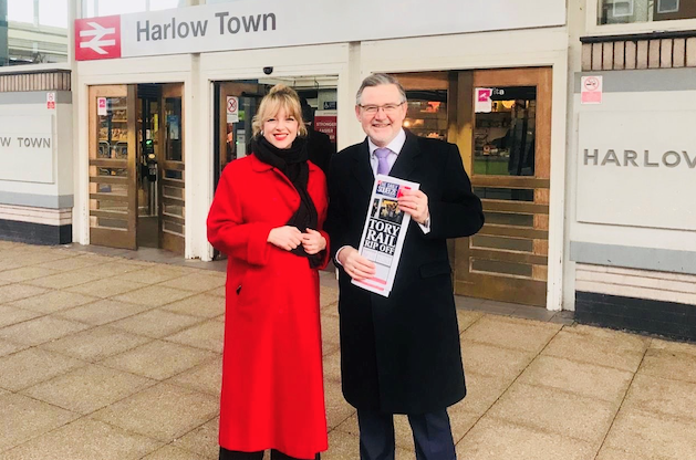 Shadow Cabinet minister Barry Gardiner joins Labour's Laura McAlpine in campaign against rail increases