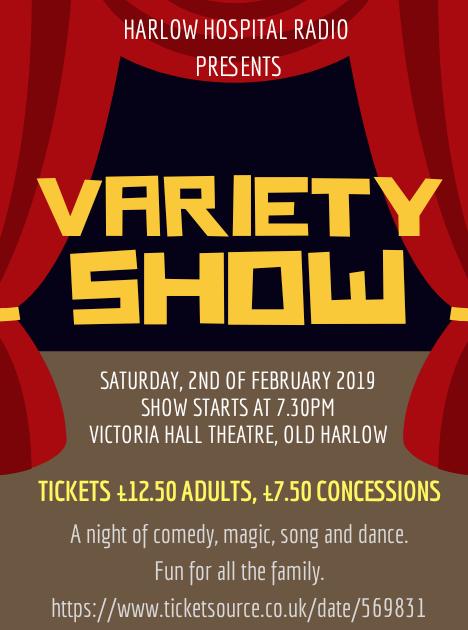 Harlow Hospital radio to host Variety Show