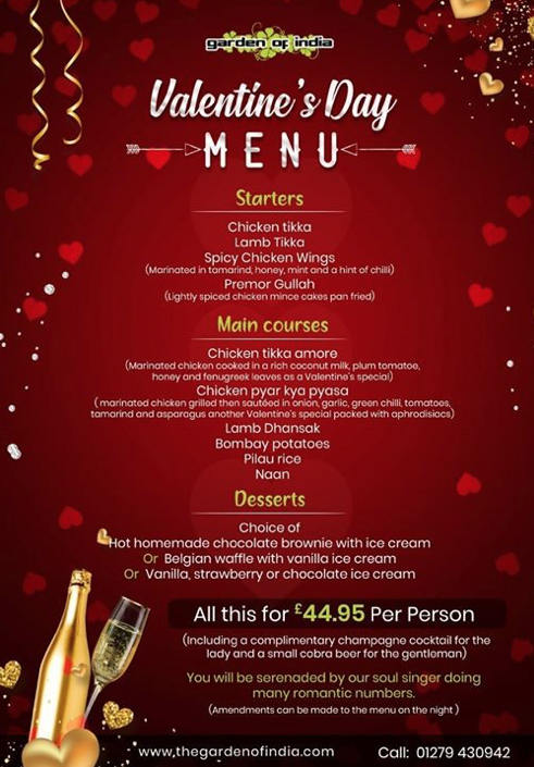 Love is in the air at the Garden of India on Valentines Day