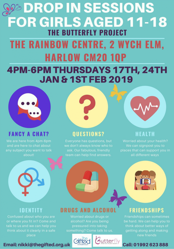 Rainbow Services offer Drop In Sessions for Girls