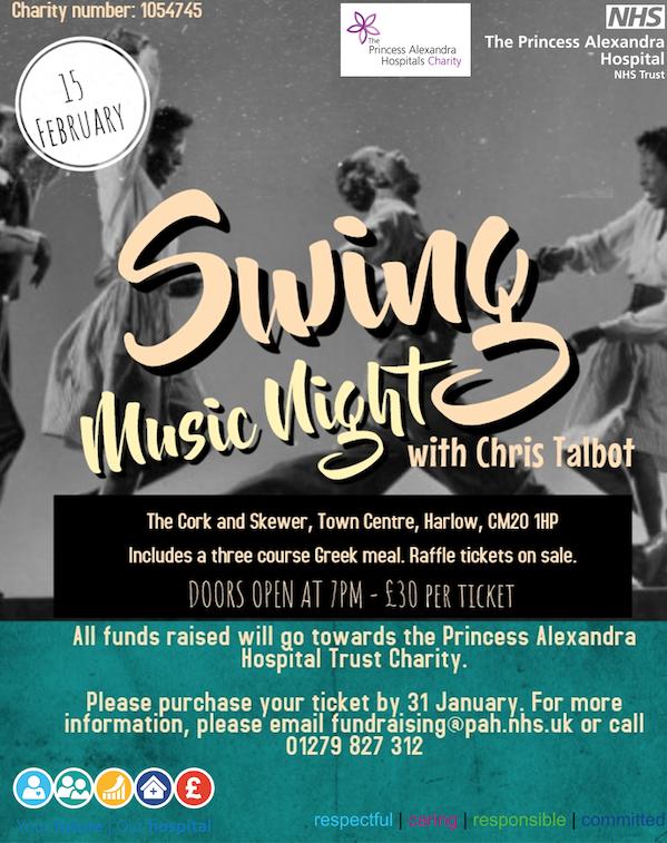 Princess Alexandra charity to host swing night