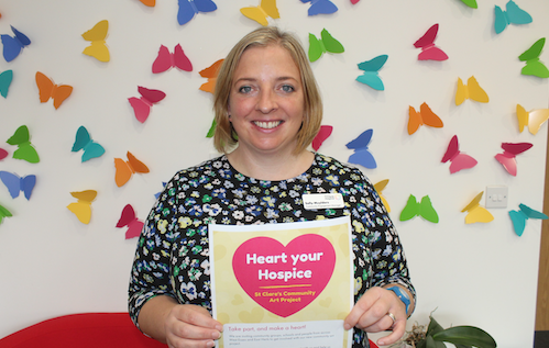 """St Clare want to see your """"Heart for Hospice"""""""