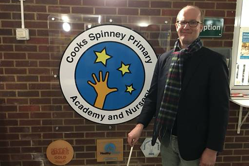 Harlow  children inspired to face challenges head by former teacher who lost his sight