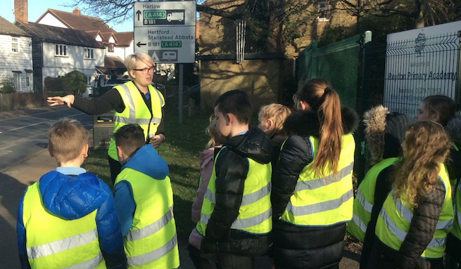 """Roydon Primary Academy students learn to """"Stop, look and listen"""""""