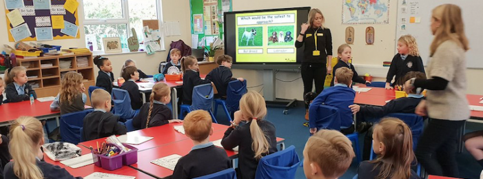 Roydon Primary pupils learn how to stay safe around dogs