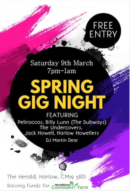 Spring fundraiser for Herts and Essex Community Farm