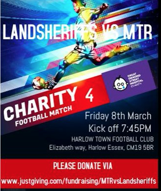 Charity football match in aid of Great Ormond Street Hospital