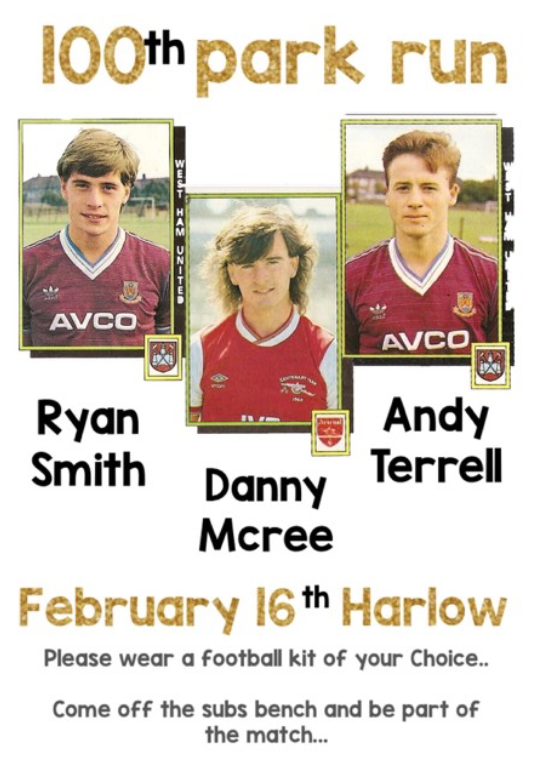 Harlow park run: Come and wear your football kit as three runners hit the 100 mark