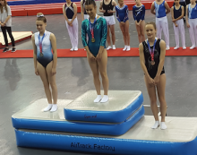 Harlow school girls proving they are among the best in the country at trampolining.