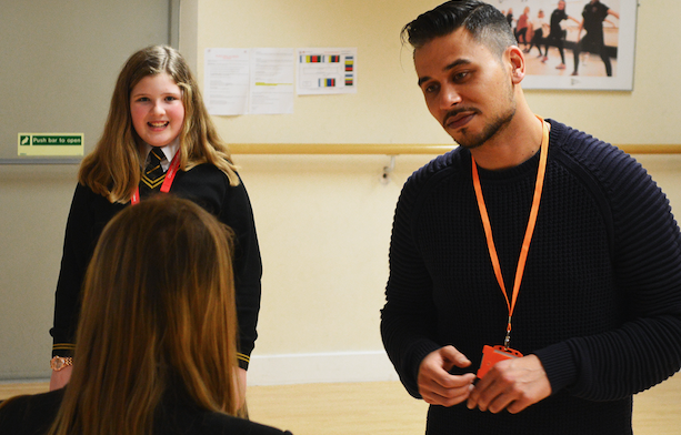 "EastEnders actor ""Fatboy"" visits Burnt Mill Academy"