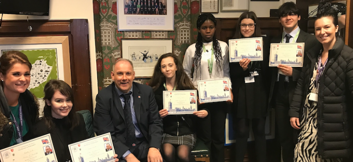 Environmentally-friendly Harlow teenagers are taking their eco mission to the top.