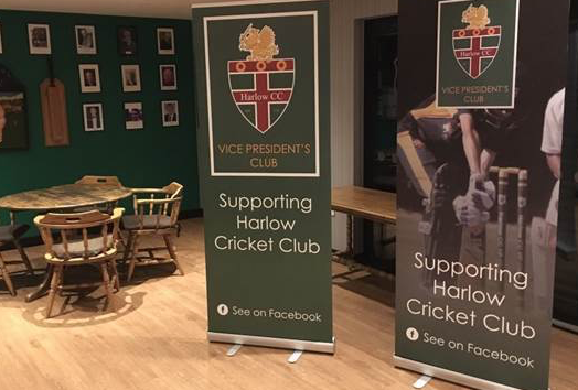Harlow Cricket Club continue to promote Vice Presidents Club