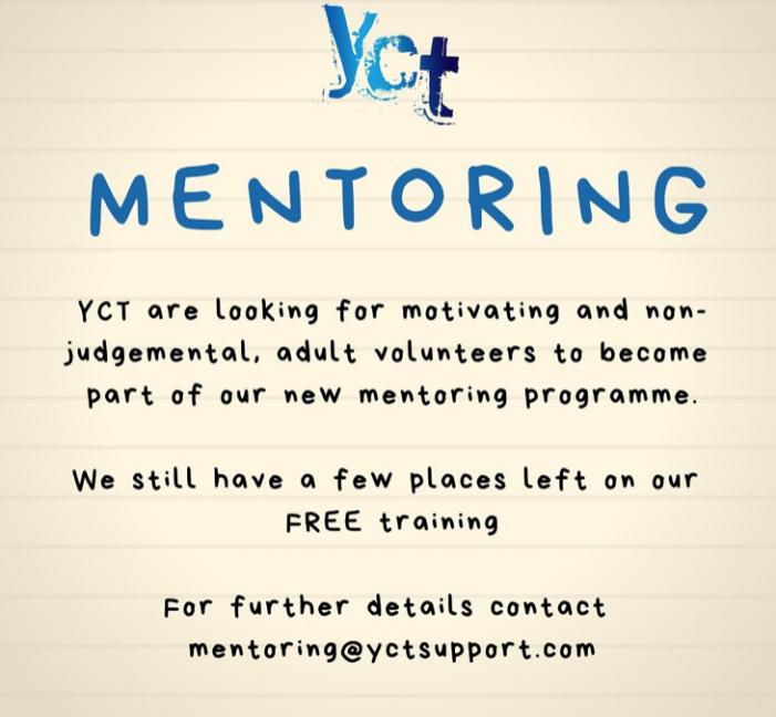YCT are seeking mentors