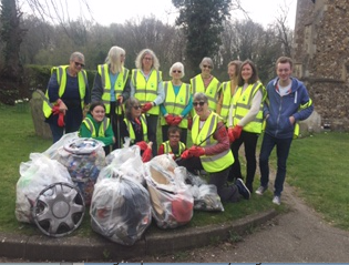 St Mary Magdalene community help out on The Harlow Big Spring Clean.