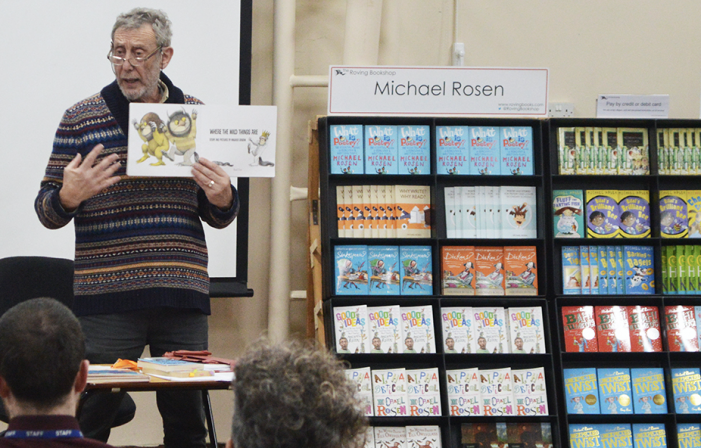 Famous author Michael Rosen inspires Little Parndon students