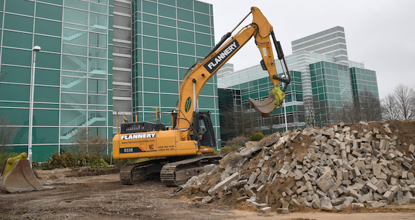 Demolition work begins to transform Public Health England Harlow site