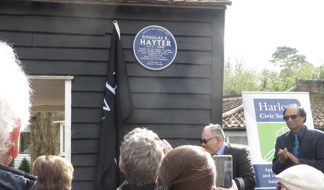Old Harlow: Plaque unveiled to commemorate renowned inventor