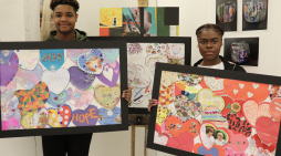 Local college supports St Clare's Heart your Hospice community art project