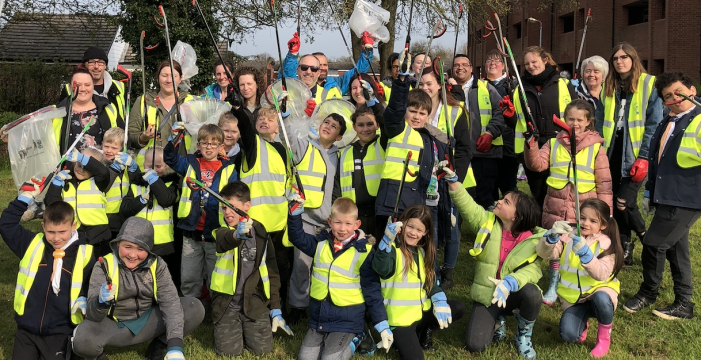 Harlow 7th Scouts take part in Big Spring Clean