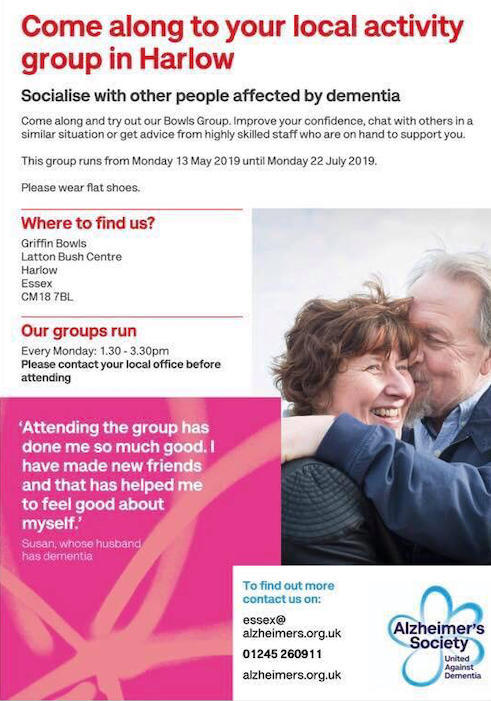Socialise with other people affected by dementia
