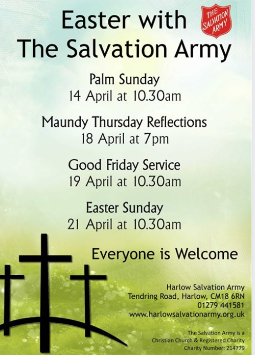 Easter at The Salvation Army in Harlow
