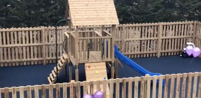 Boss of Templefields House unveils new playground for families
