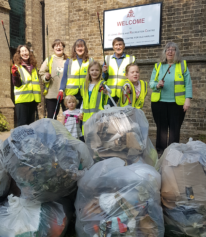 St John's volunteers clean up Old Harlow