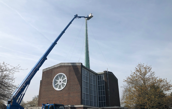 Work continues on Our Lady of Fatima cross