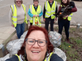 St Mary's Little Parndon volunteers take part in spring clean