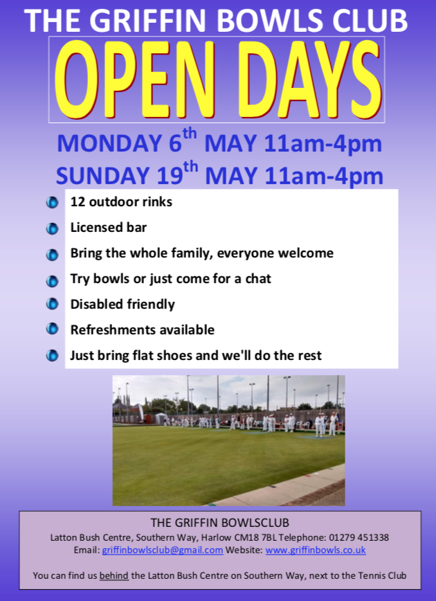Griffin Bowls Club set to host Open Days - Your Harlow