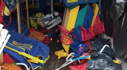 Appeal after yobs damage and destroy hundreds of pounds worth of sporting equipment at Church Langley Primary
