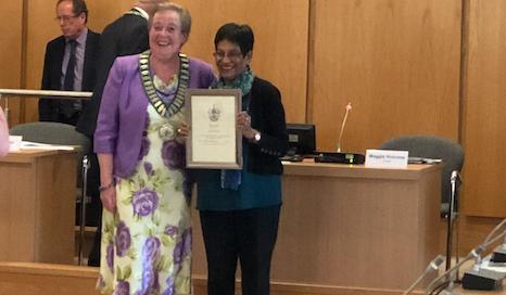 Harlow Citizen of the Year Award for community champion Neela Hibbert