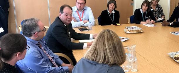 Health minister Stephen Hammond visits Princess Alexandra Hospital