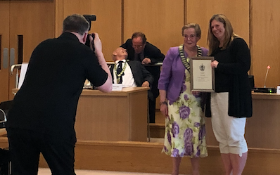 Harlow swimming legend receives Citizen of the Year award