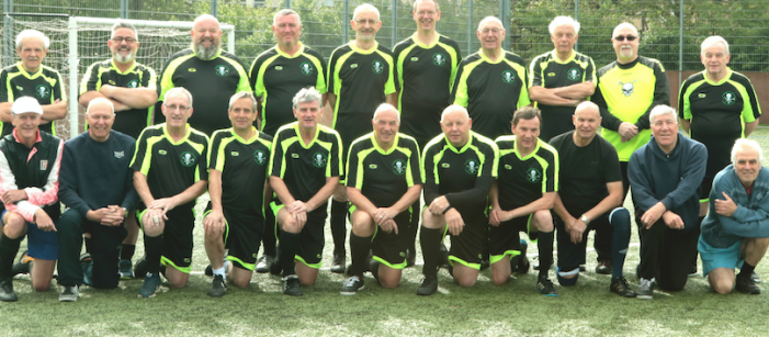 Harlow walking football team stride out in new tracksuits after netting funding from UK Power Networks.
