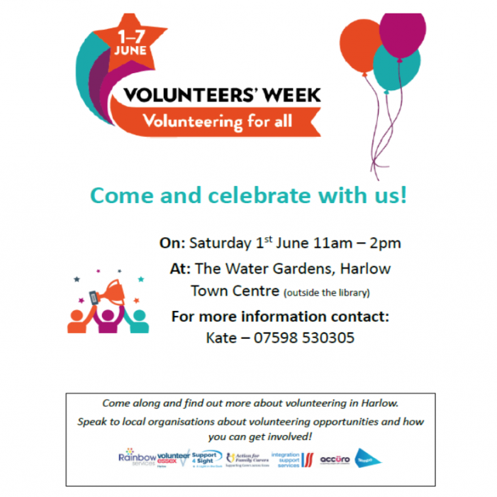 Come and find out more about volunteering in Harlow