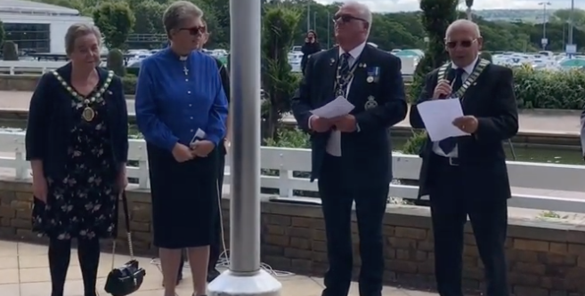 Harlow marks 75th anniversary of D-Day landings with ceremony in Water Gardens