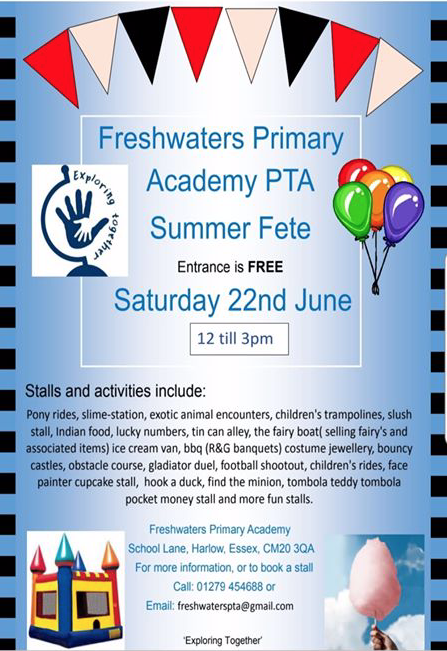 Freshwaters Primary Academy set to host Summer Fete