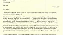 Robert Halfon writes to BBC over TV Licence Fee