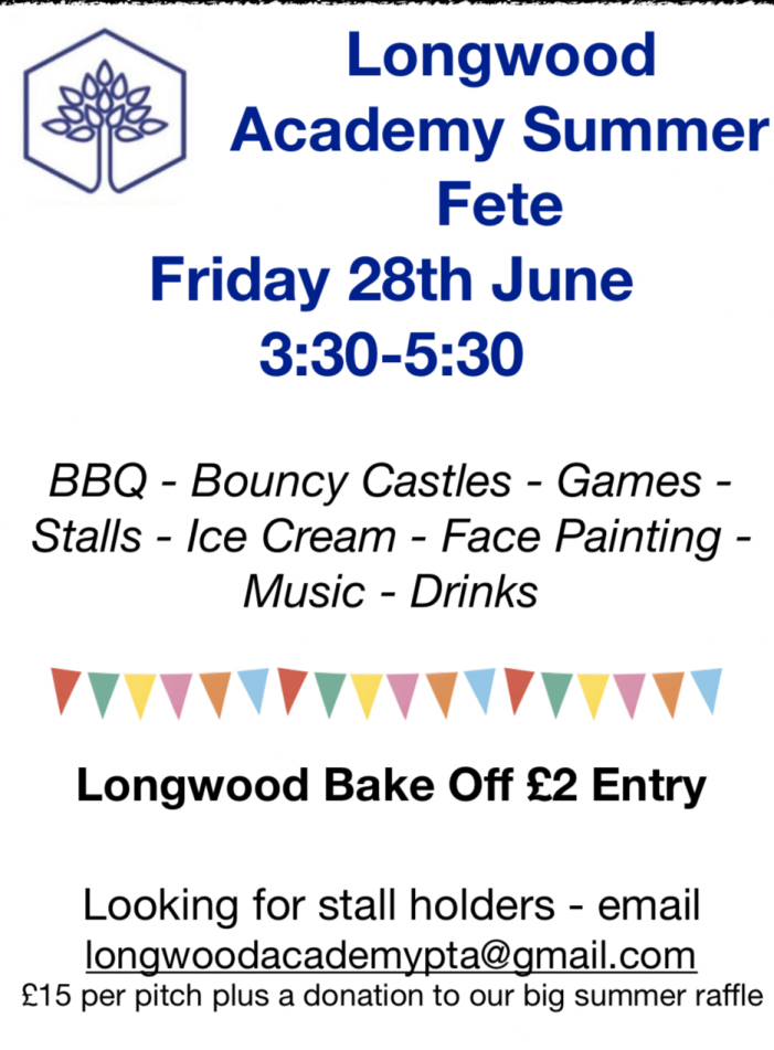 Longwood Primary Academy set to host summer fete