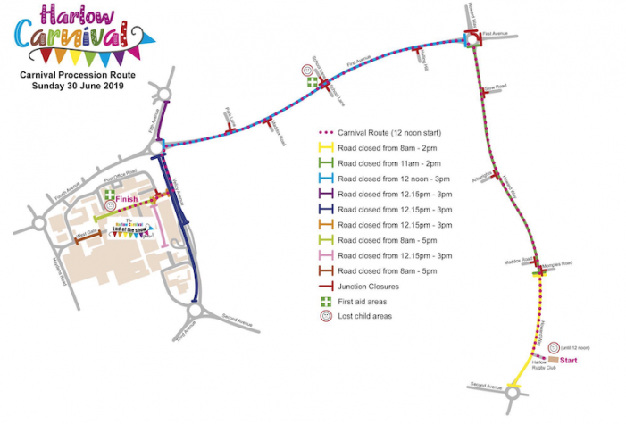 Harlow Carnival: Local road closures on Sunday