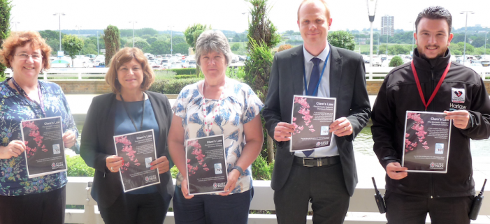 Harlow businesses help police raise awareness of domestic violence