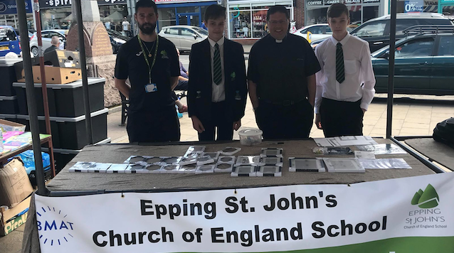 Budding young businessmen and women launched their own companies at a community market.
