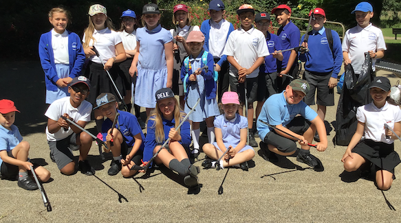 Henry Moore pupils have a picnic litter picking around town