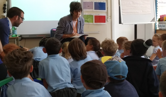 Minecraft author visits Roydon Primary