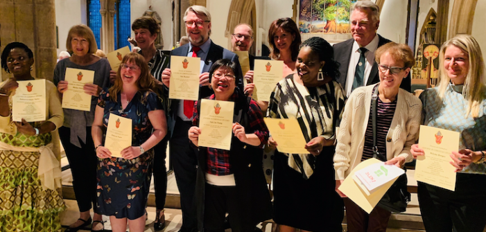 Harlow mature students receive certificates from Christian Studies course
