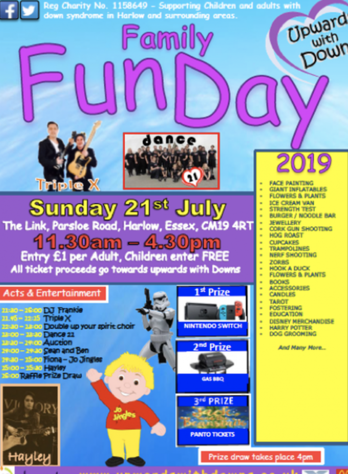 Upwards with Downs set for Family Fun Day